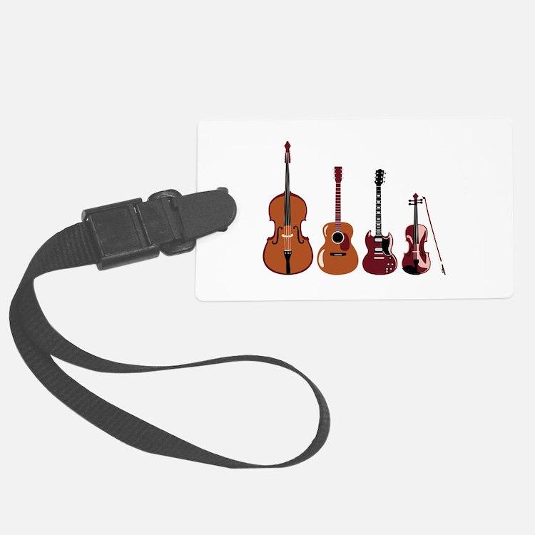 Bass Guitars and Violin Luggage Tag