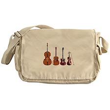 Bass Guitars and Violin Messenger Bag