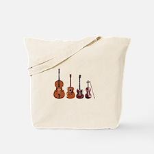 Bass Guitars and Violin Tote Bag
