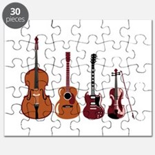 Bass Guitars and Violin Puzzle