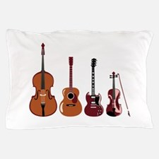 Bass Guitars and Violin Pillow Case