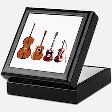 Bass Guitars and Violin Keepsake Box