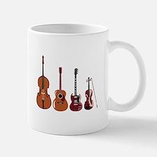 Bass Guitars and Violin Mugs