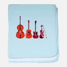 Bass Guitars and Violin baby blanket