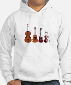 Bass Guitars and Violin Hoodie