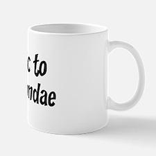 Allergic to Hot Fudge Sundae Mug