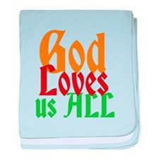 God Loves Us All baby blanket