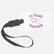 25th Anniversary Two Hearts Luggage Tag