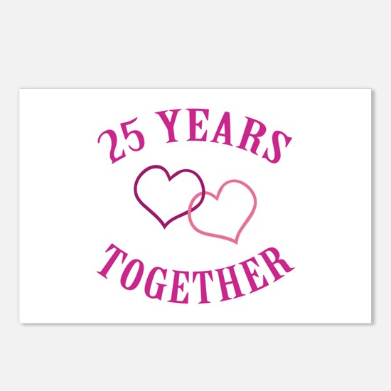 25th Anniversary Two Hearts Postcards (Package of