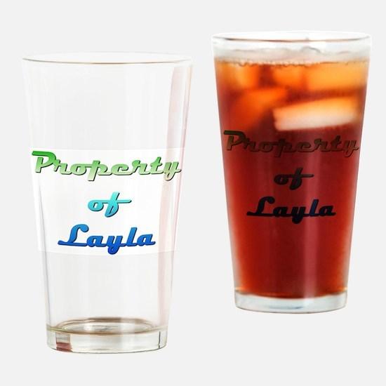 Property Of Layla Female Drinking Glass
