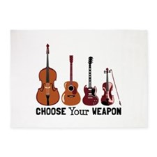 Choose Your Weapon 5'x7'Area Rug