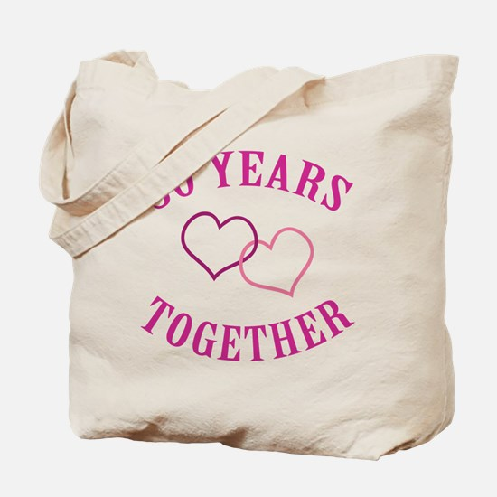 30th Anniversary Two Hearts Tote Bag