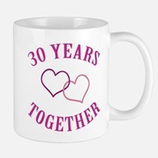 30th Anniversary Two Hearts Mug