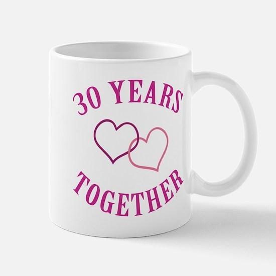 30th Anniversary Two Hearts Mug