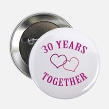 "30th Anniversary Two Hearts 2.25"" Button"