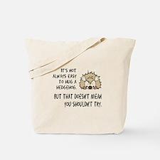 Hug a Hedgehog Tote Bag