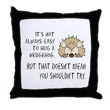 Hug a Hedgehog Throw Pillow