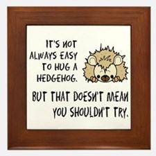 Hug a Hedgehog Framed Tile