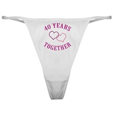 40th Anniversary Two Hearts Classic Thong