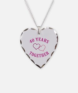 40th Anniversary Two Hearts Necklace