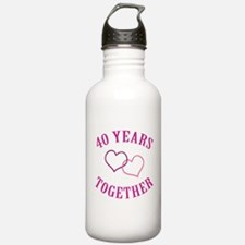40th Anniversary Two Hearts Water Bottle
