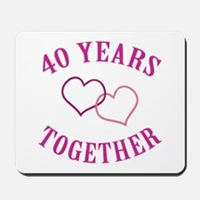 40th Anniversary Two Hearts Mousepad
