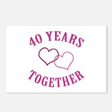 40th Anniversary Two Hearts Postcards (Package of