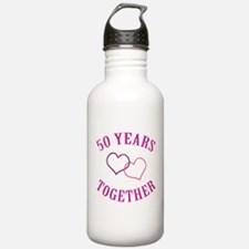 50th Anniversary Two Hearts Water Bottle