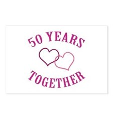 50th Anniversary Two Hearts Postcards (Package of
