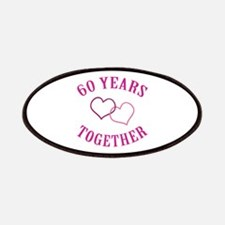 60th Anniversary Two Hearts Patches