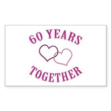60th Anniversary Two Hearts Decal