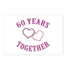 60th Anniversary Two Hearts Postcards (Package of
