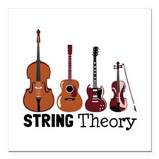 """String Theory Square Car Magnet 3"""" x 3"""""""