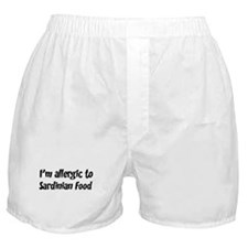 Allergic to Sardinian Food Boxer Shorts