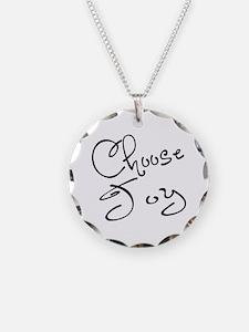 Choose Joy Necklace Circle Charm