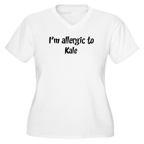 Allergic to Kale Women's Plus Size V-Neck T-Shirt