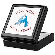 25th Anniversary Lovebirds Keepsake Box