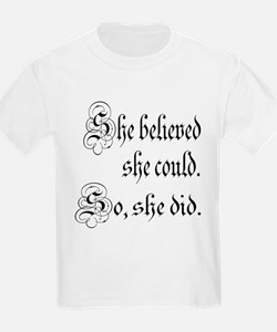 She Believed She Could Medieval T-Shirt