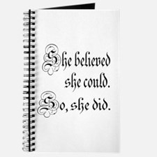 She Believed She Could Medieval Journal