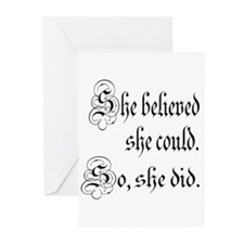She Believed She Could Medieval Greeting Cards (Pk