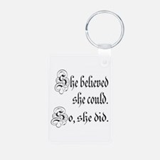 She Believed She Could Medieval Keychains