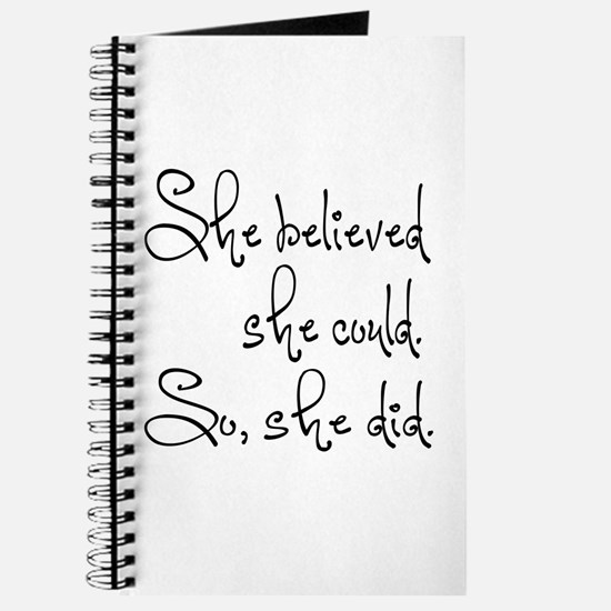 She Believed She Could Journal