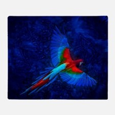 Blue Winged Macaw Throw Blanket