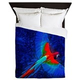 Blue macaw Luxe Full/Queen Duvet Cover