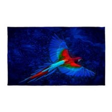 Blue Winged Macaw 3'X5' Area Rug