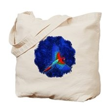 Blue Winged Macaw Tote Bag