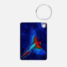 Blue Winged Macaw Keychains