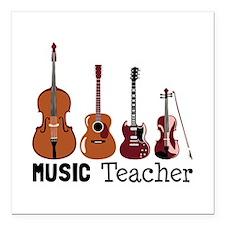 "Music Teacher Square Car Magnet 3"" x 3"""