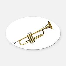 Trumpet Oval Car Magnet