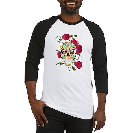 Rose Sugar Skull Baseball Jersey
